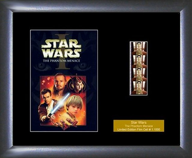 Star Wars The Hamtom Menace Single Film Cell