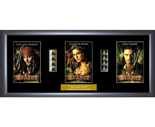 Pirates Of The Caribbean Film Cells Johnny Depp Limited Editions