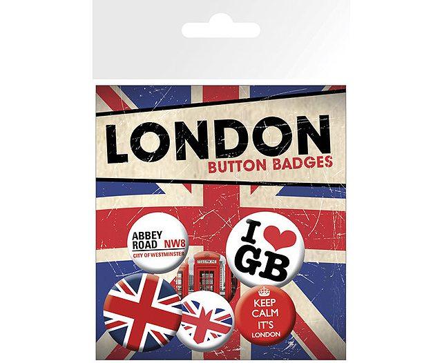 Keep Calm London Badges