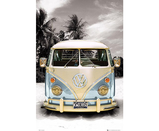 VW Camper : beach