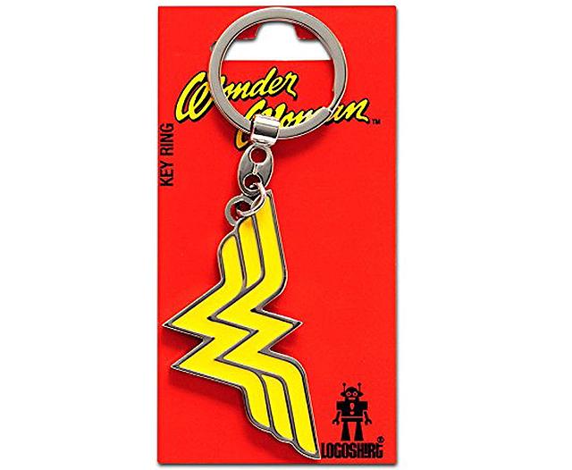 Wonder Woman logo keyring