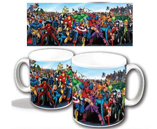 Marvel characters mug