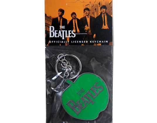 Beatles Apple logo keyring