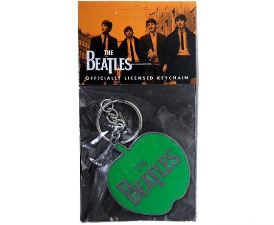 Beatles Apple logo keyring