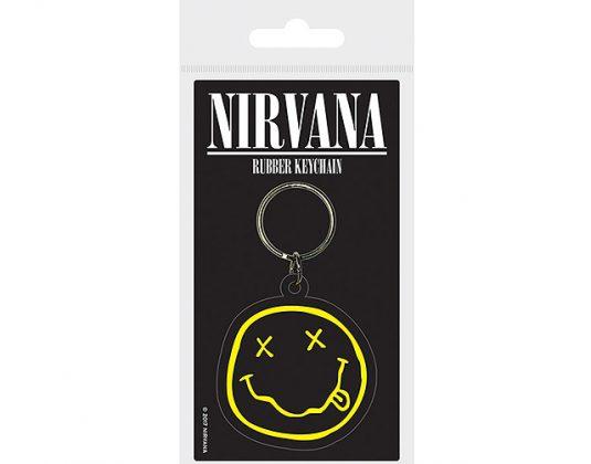 Nirvana smiley keyring